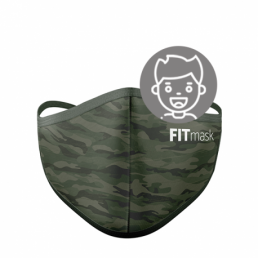 FITmask Green Camo Kids