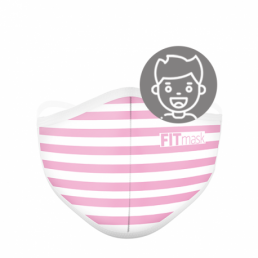FITmask Pink Stripes Kids