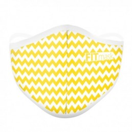FITmask Chevron Yellow Adulto
