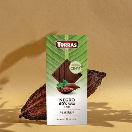 Chocolate Negro Estevia 60%...
