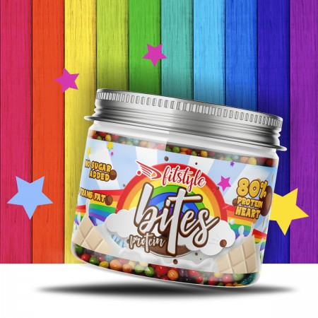 Protein Bites Rainbow Party