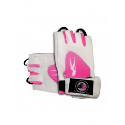 Pink Fit Gloves Blanco-Rosa