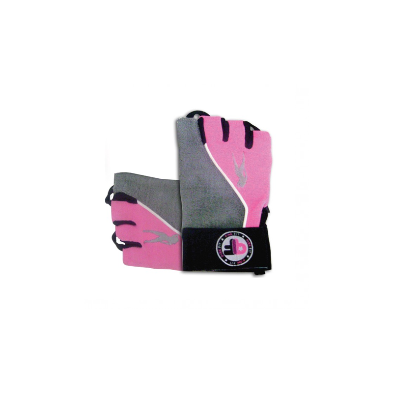 Pink Fit Gloves Gris-Rosa