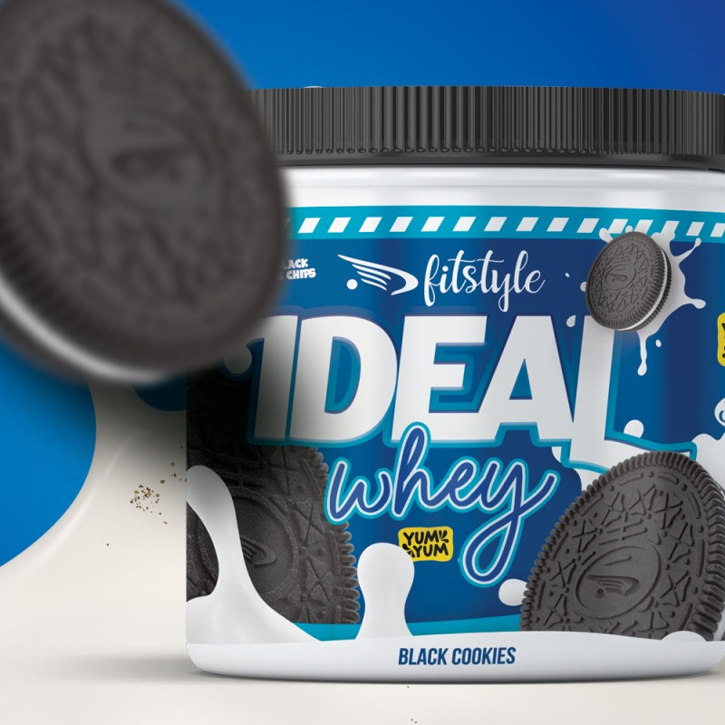 Ideal Whey Black Cookies 500g FITSTYLE