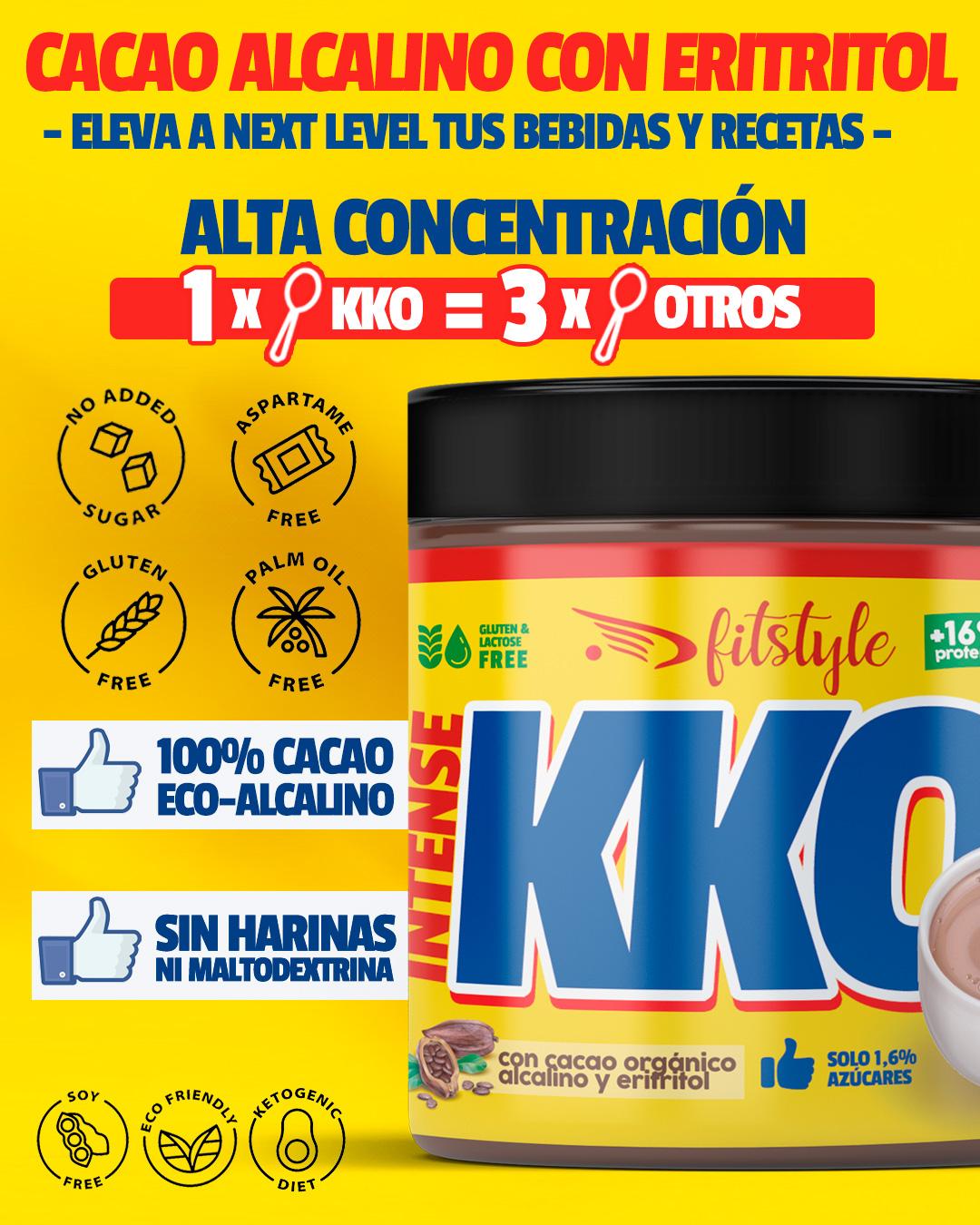 KKO Cacao ECO Alcalino 250g FITSTYLE